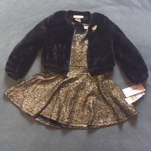 Juicy Couture toddler girl 2 Pc dress & coat set